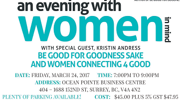 an evening with women in mind